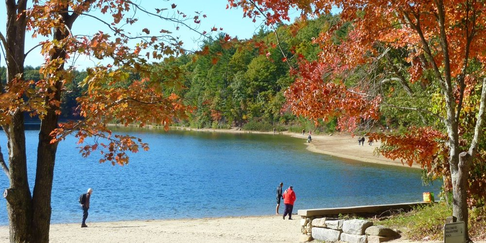 Walden Pond in the Concord, Mass., fall time...