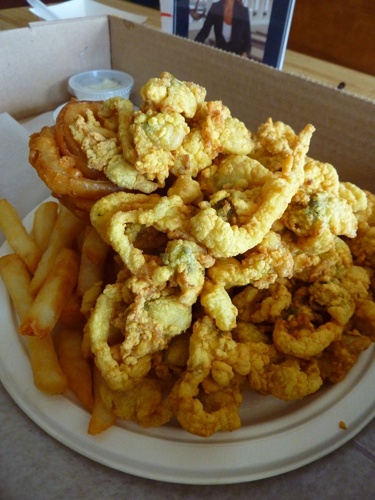 Fried clams from Woodman's of Essex, Mass.
