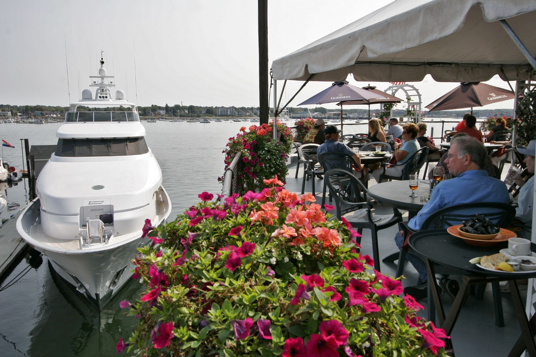 Deck dining at DiMillo's in Portland, ME. Photo credit: Johnny DiMillo.