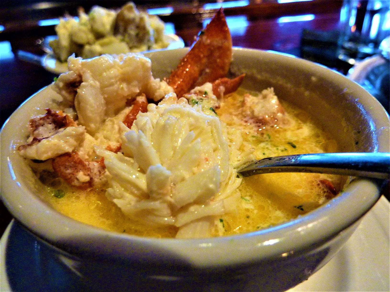 Lobster bisque from DiMillo's On the Water in Portland, ME.
