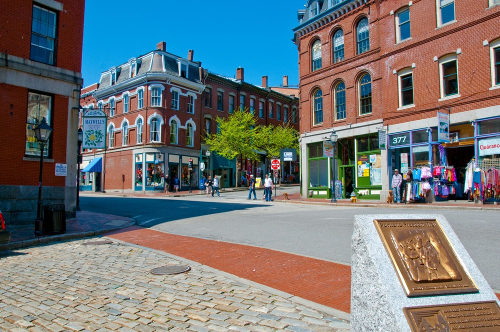 Old Port Historic District. Portland, Maine. Photo credit: Maine Office of Tourism.