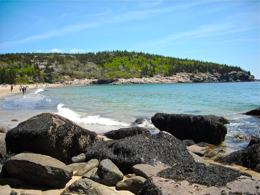 Sand Beach on the Loop Road at Acadia National Park, Maine.