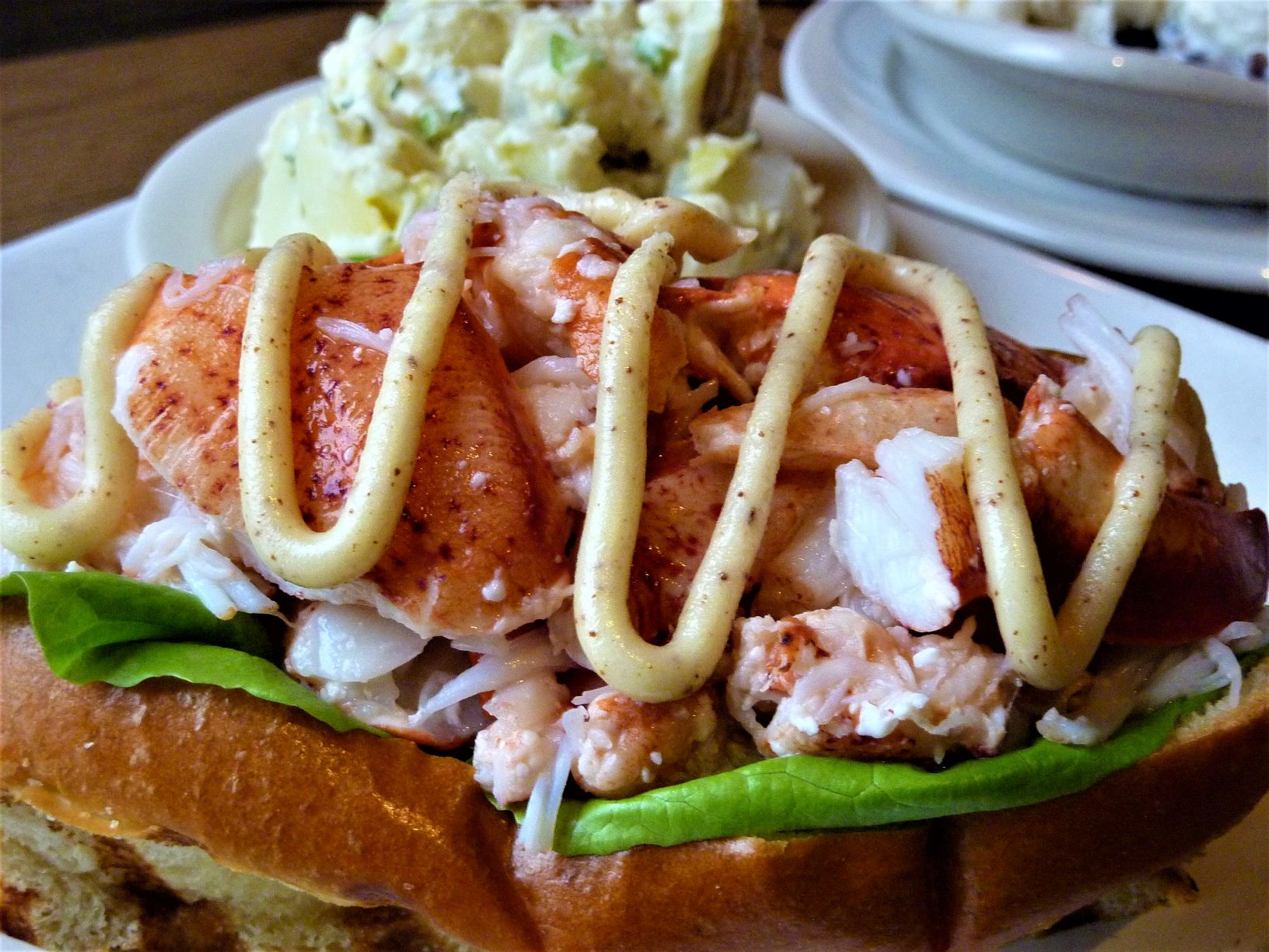 Lobster roll from DiMillo's in Portland, Maine.