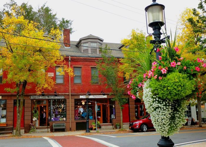 Can you identify this quaint New England village?