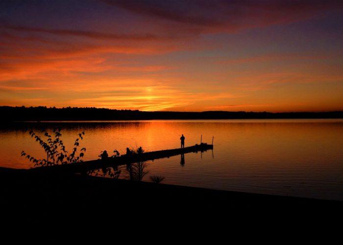 Finding peace and solitude at beautiful Lake Massapoag in Sharon. Mass.