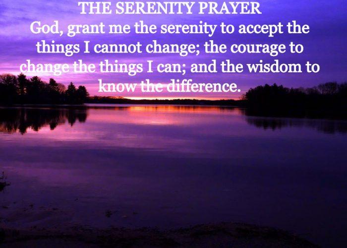 The Serenity Prayer. Photo taken at Willett Pond in North Walpole, Massachusetts.