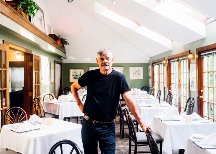 Jonathan West, owner of Jonathan's Restaurant in Ogunquit, ME. Photo credit: Lauryn Hottinger.