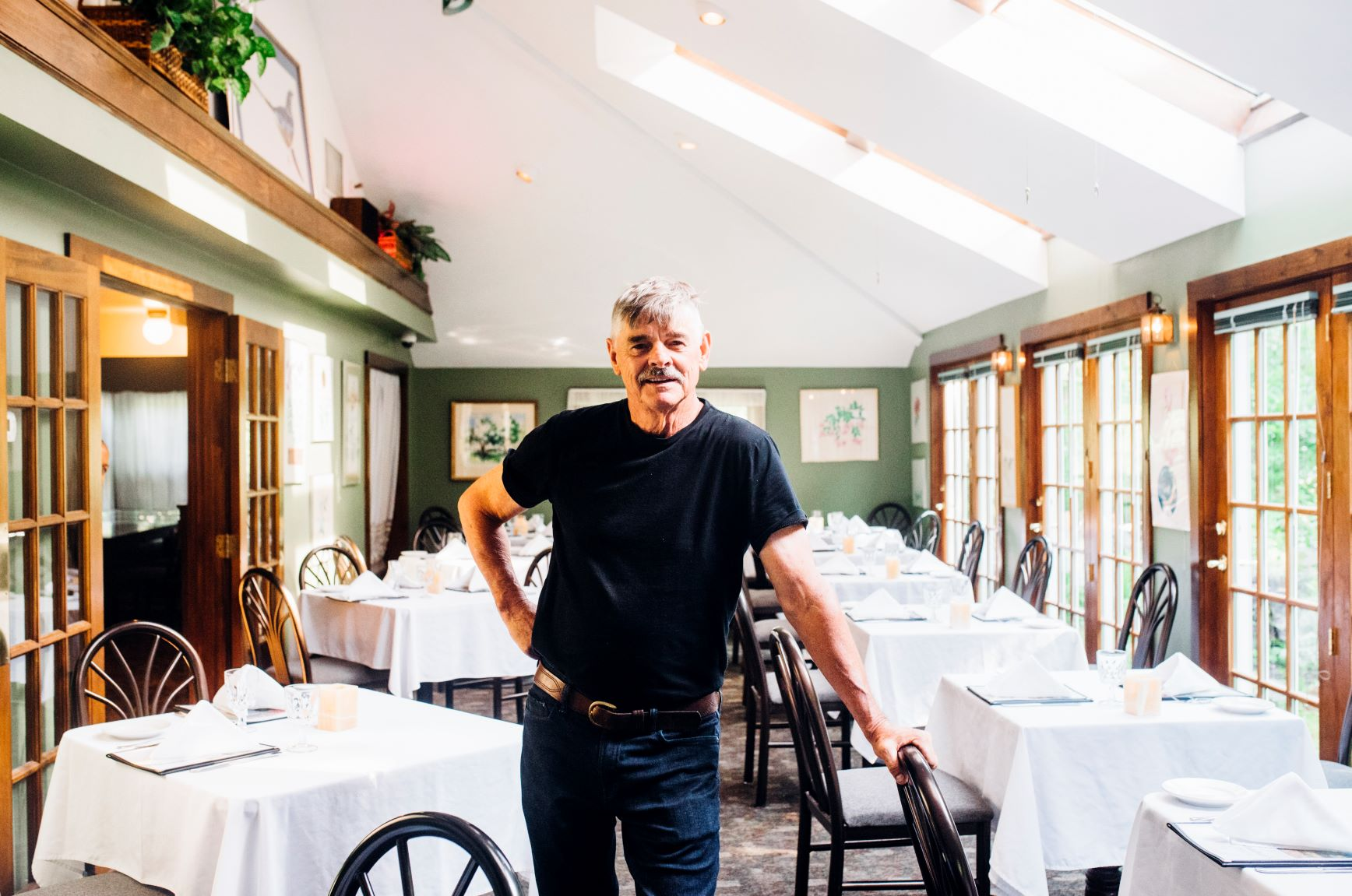 Jonathan West, owner of Jonathan's Restaurant in Ogunquit, ME. Photo credit: Lauryn Hottinger.