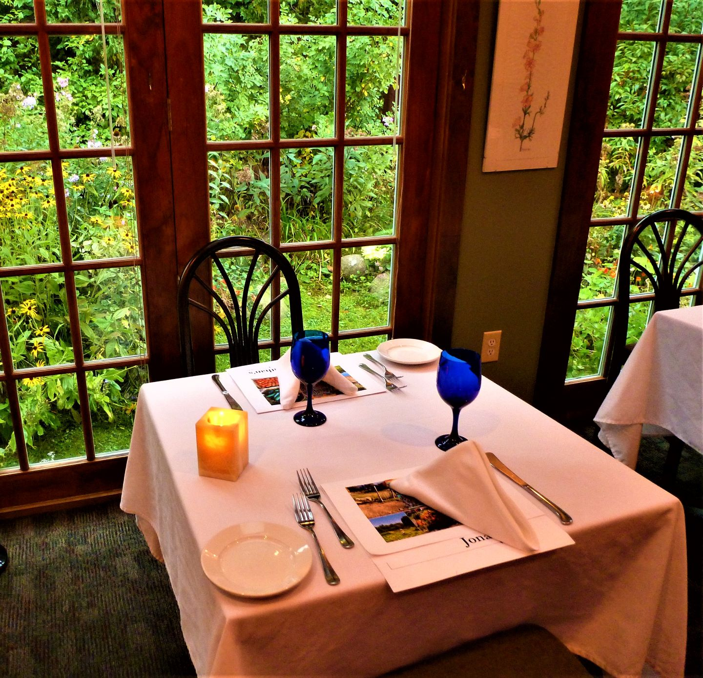 Cozy dining at Jonathan's Restaurant in Ogunquit, Maine.