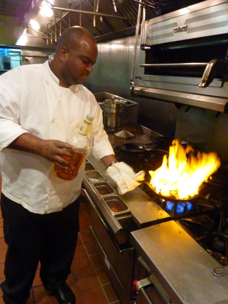 Preparing pan roasted lobster at  Summer Shack in Cambridge, Mass.