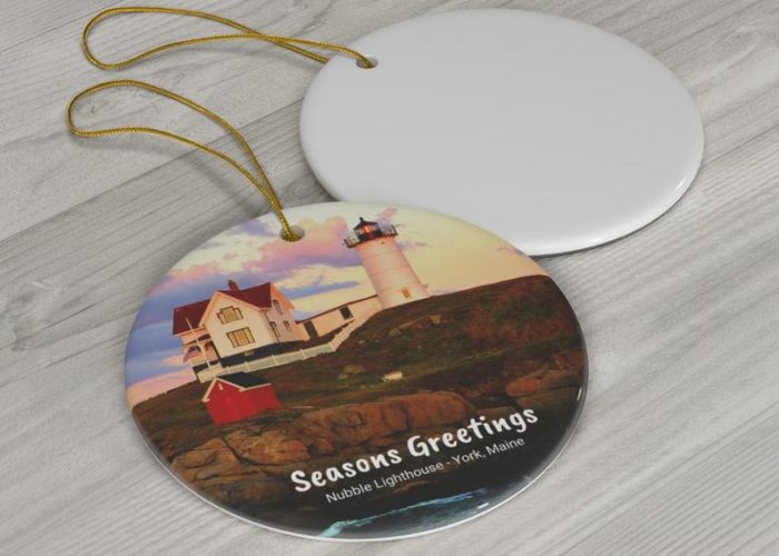 Nubble Lighthouse ornament for your Christmas tree