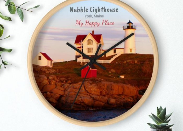 Check out this Nubble Lighthouse Wall Clock for your home, townhouse, condo, yurt, apartment or office!