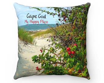 My Happy Place - Cape Cod Throw Pillow from NewEnglandCaptured at Etsy.