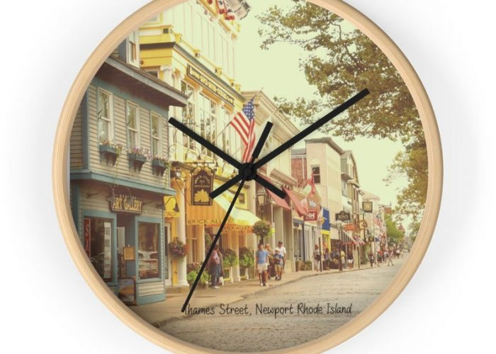 Newport, RI, Thames St. Wall Clock.